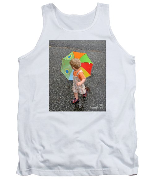 Walking In The Rain Tank Top by Sami Martin
