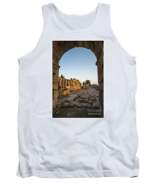 Tank Top featuring the photograph Walking The History In Hierapolis by Yuri Santin