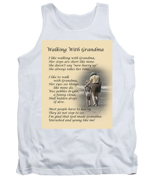 Walking With Grandma Tank Top