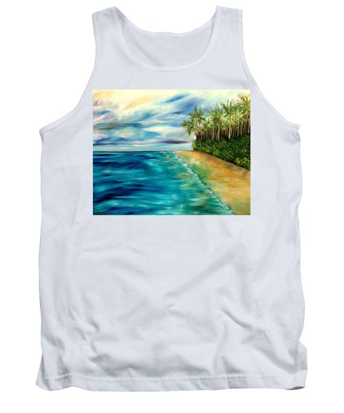 Wandering Through Turquoise Days Tank Top by Lisa Aerts