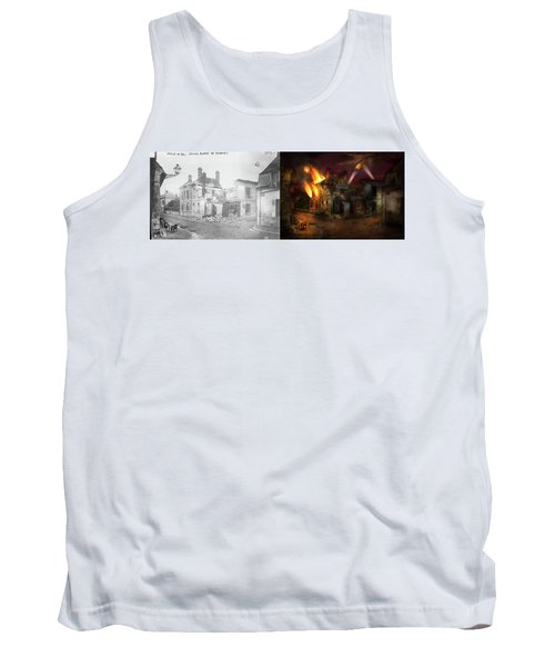 Tank Top featuring the photograph War - Wwi -  Not Fit For Man Or Beast 1910 - Side By Side by Mike Savad