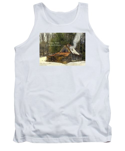 Tank Top featuring the photograph Warmest Wishes For The Holiday Season Greeting Card by Betty Denise