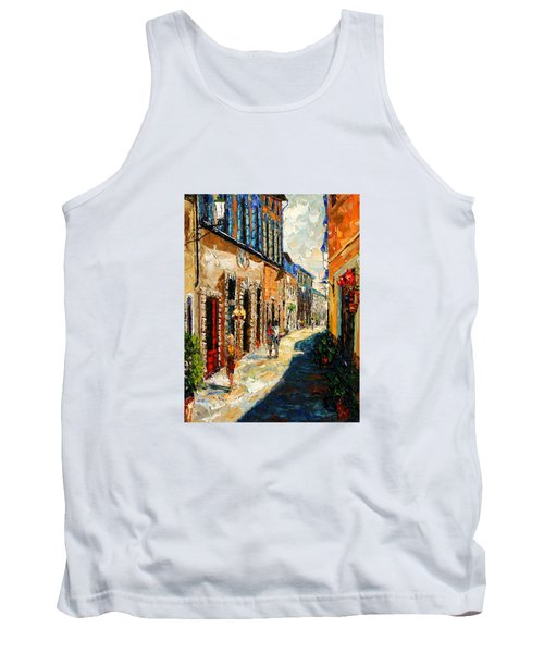 Warmth Of A Barcelona Street Tank Top by Andre Dluhos