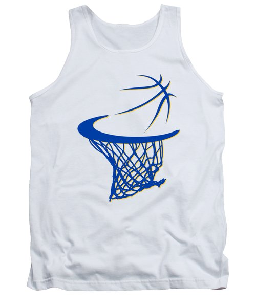 Warriors Basketball Hoop Tank Top by Joe Hamilton