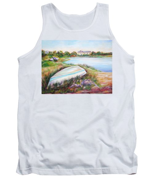 Tank Top featuring the painting Washed Up by Patricia Piffath