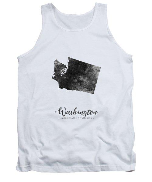 Washington State Map Art - Grunge Silhouette Tank Top