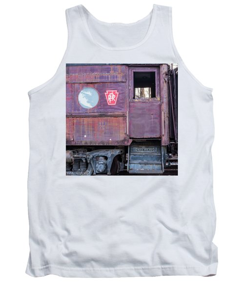 Tank Top featuring the photograph Watch Your Step Vintage Railroad Car by Terry DeLuco