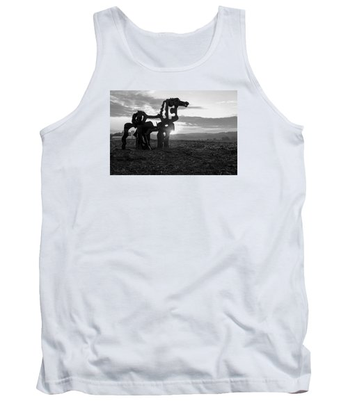 Watchful The Iron Horse  Tank Top by Reid Callaway