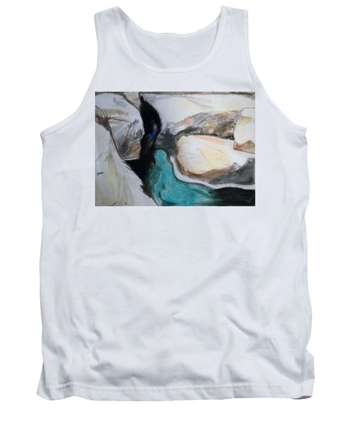 Tank Top featuring the painting Water Between The Rocks by Esther Newman-Cohen