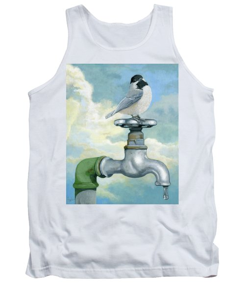 Tank Top featuring the painting Water Is Life - Realistic Painting by Linda Apple