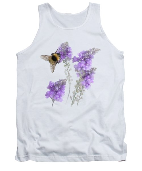 Tank Top featuring the painting Watercolor Bumble Bee by Ivana Westin