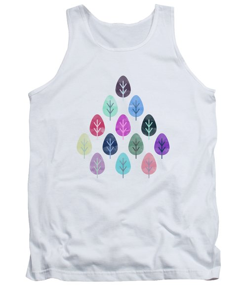 Watercolor Forest Pattern  Tank Top