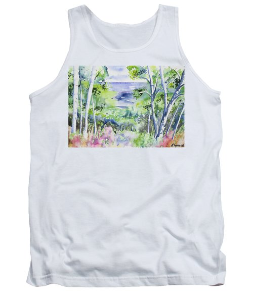 Watercolor - Lake Superior Impression Tank Top