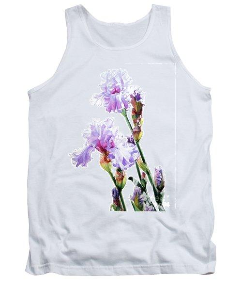 Watercolor Of A Tall Bearded Iris I Call Lilac Iris Wendi Tank Top
