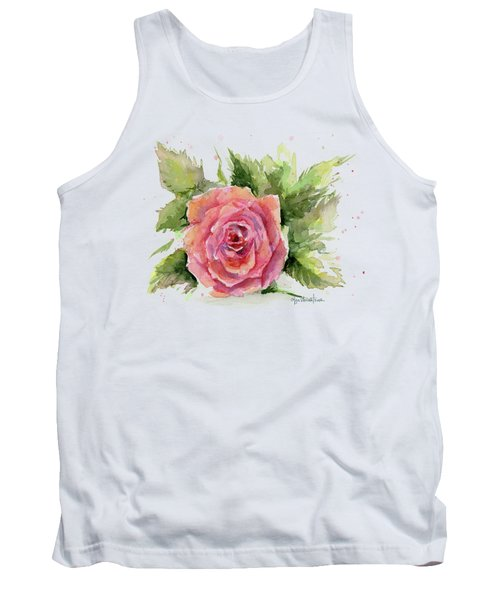 Watercolor Rose Tank Top