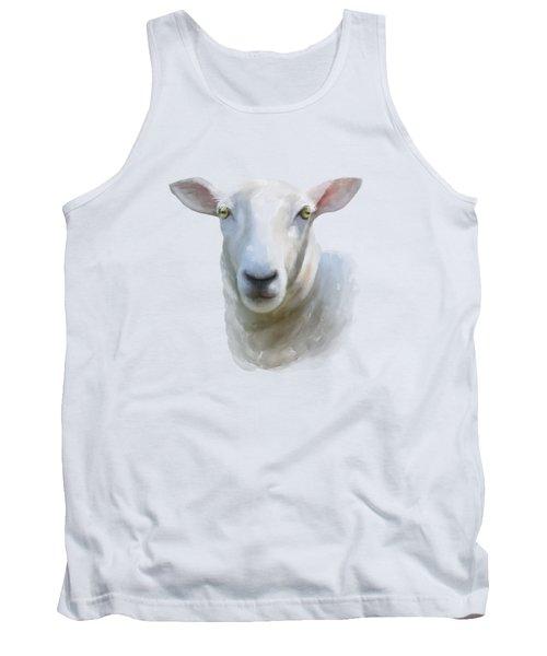 Watercolor Sheep Tank Top