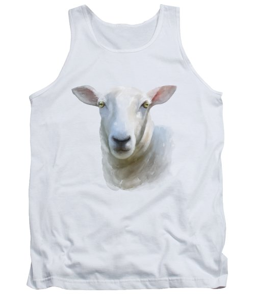 Tank Top featuring the painting Watercolor Sheep by Ivana Westin