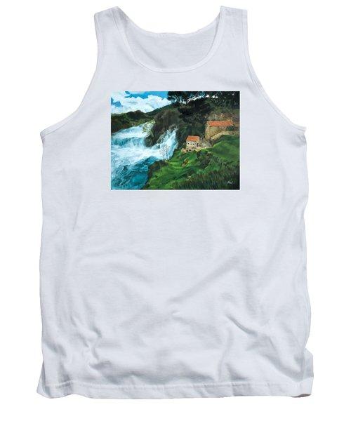 Waterfall In Krka Tank Top
