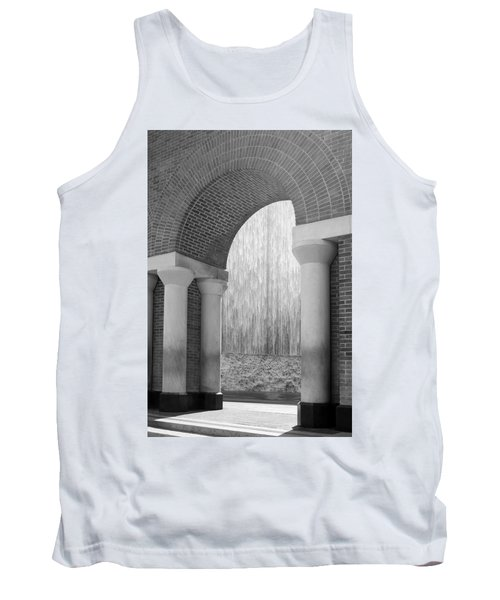 Waterwall And Arch 3 In Black And White Tank Top