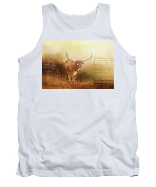 Watusi In The Dust And Golden Light Tank Top
