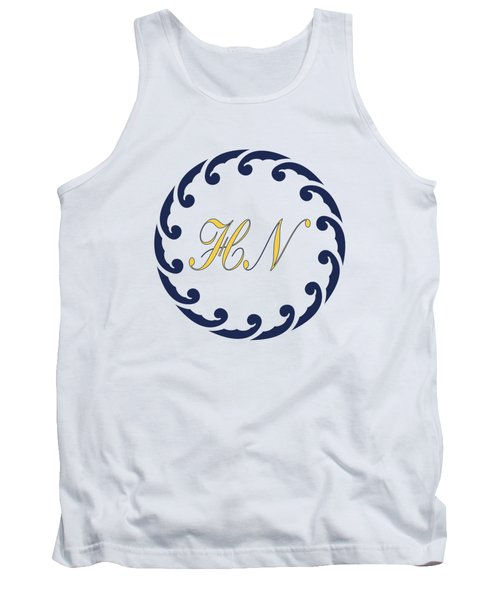 Wave Ring And Yellow Cipher Tank Top