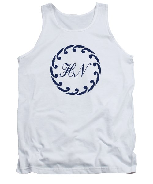 Wave Ring And Cipher In Blue Tank Top