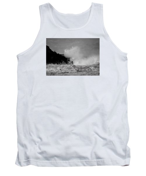 Tank Top featuring the photograph Wave Watching by Roy McPeak