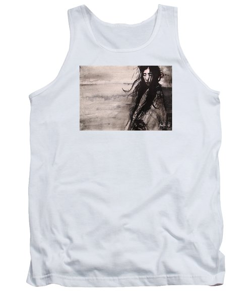 Tank Top featuring the painting We Dreamed Our Dreams by Jarmo Korhonen aka Jarko