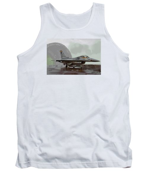 Tank Top featuring the digital art Weather Day by Walter Chamberlain