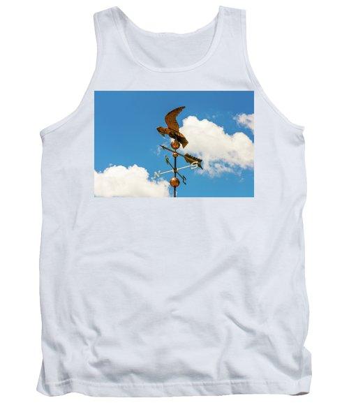 Weather Vane On Blue Sky Tank Top