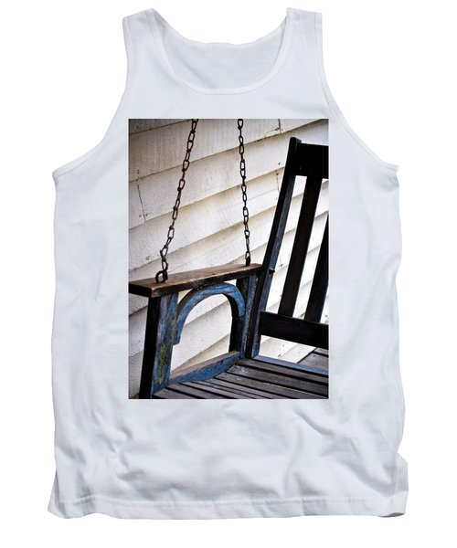 Weathered Porch Swing Tank Top by Debbie Karnes