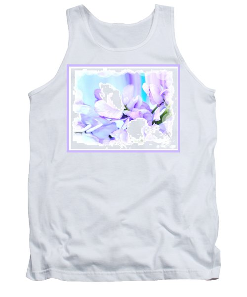 Wedding Flower Pedals Tank Top by Marsha Heiken