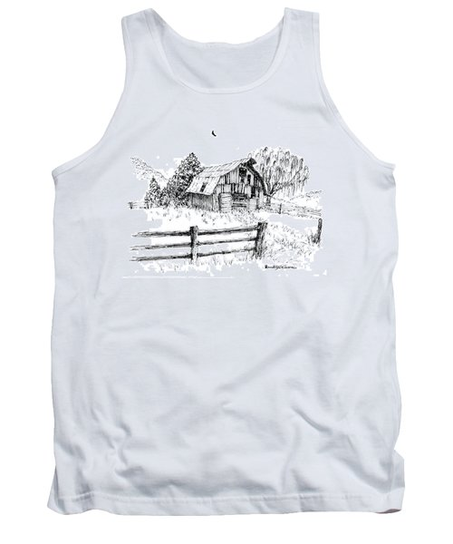 Weeping Willow And Barn One Tank Top