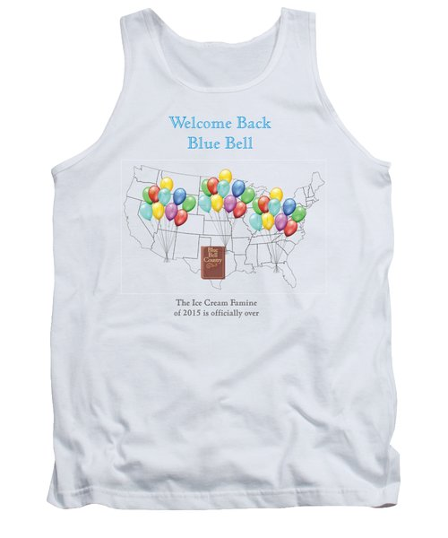 Welcome Back Blue Bell Tank Top by Jacquie King