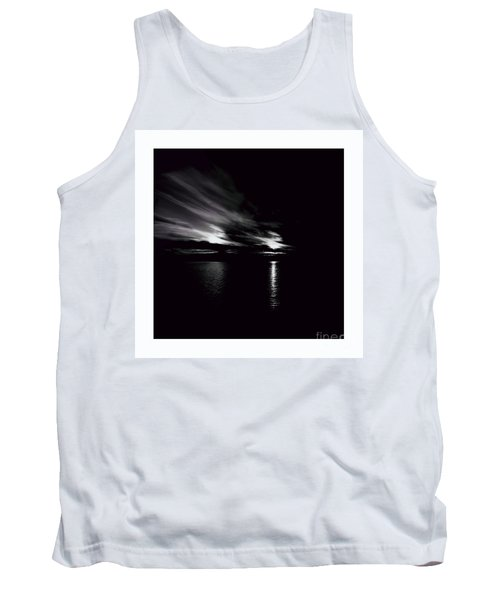 Welcome Beach Night Sky Tank Top by Elaine Hunter