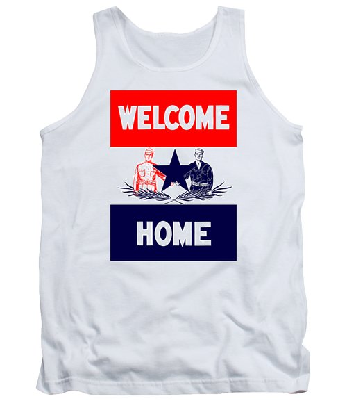 Vintage Welcome Home Military Sign Tank Top