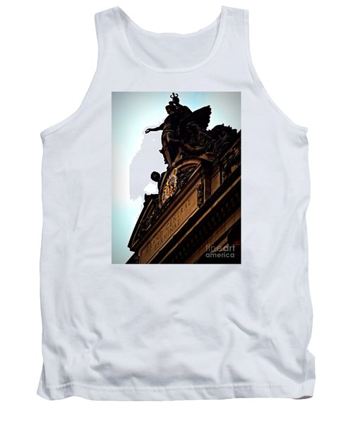 Welcome To Grand Central Tank Top by James Aiken