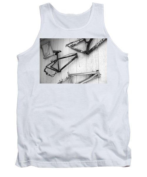 Well Worn Mountain Bike Frames  Tank Top by Gray  Artus