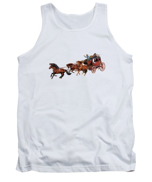 Wells Fargo Stagecoach Tank Top