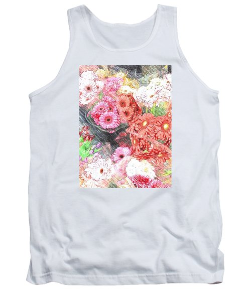 Wendy's Flowers Tank Top by Jan Amiss Photography