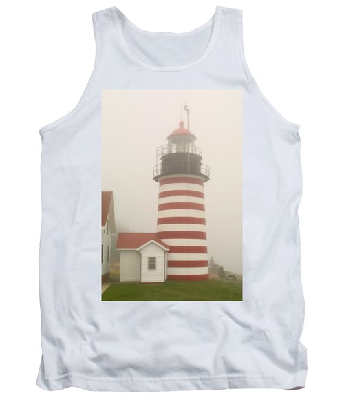 West Quody Head Lighthouse Tank Top by Brent L Ander