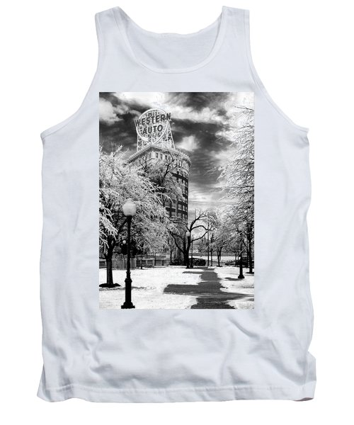 Western Auto In Winter Tank Top