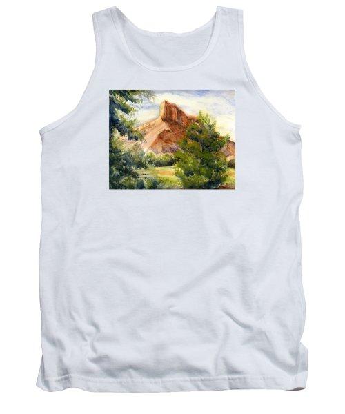 Western Landscape Watercolor Tank Top