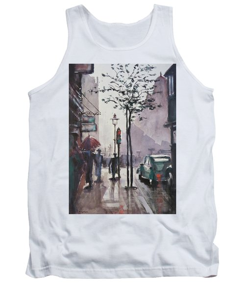Tank Top featuring the painting Wet Afternoon by Geni Gorani