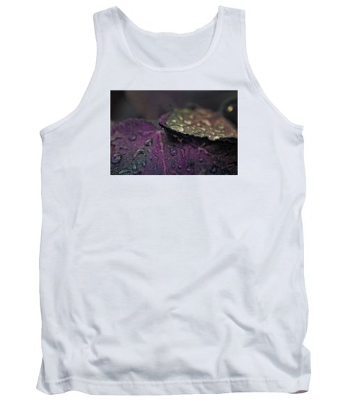 Wet Purple Leaves Tank Top by Bonnie Bruno