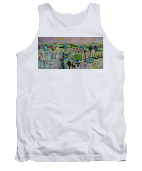What A Bird Sees Tank Top by Sharon Furner
