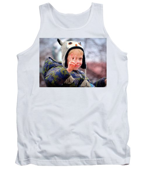 Tank Top featuring the photograph What The World Needs Now by Barbara Dudley