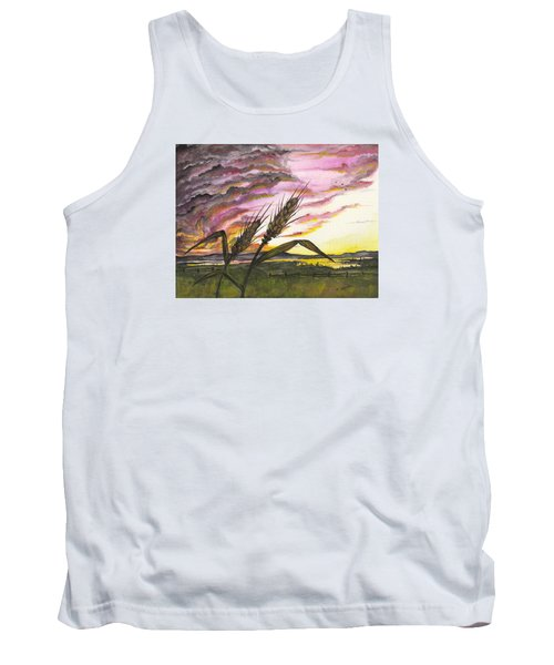 Wheat Field Tank Top by Darren Cannell