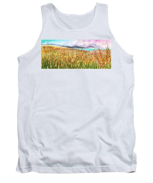 Wheat Landscape Tank Top