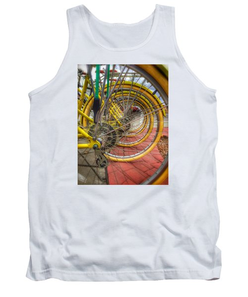 Wheels Within Wheels Tank Top by Mark David Gerson